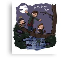 Sam, Dean, and Cas Canvas Print