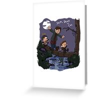 Sam, Dean, and Cas Greeting Card