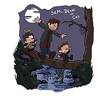 Sam, Dean, and Cas Photographic Print