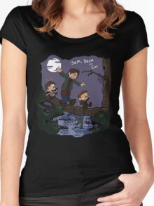 Sam, Dean, and Cas Women's Fitted Scoop T-Shirt