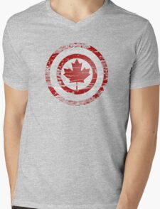 Captain Canada Mens V-Neck T-Shirt
