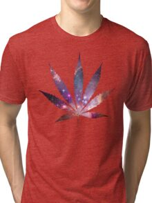 Space Pot Leaf Tri-blend T-Shirt