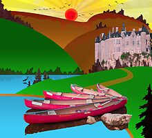 Ipad: Canoeing in the Ardennes by Steven House