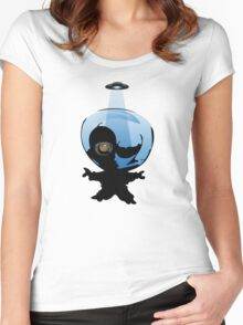 Little Alien Arrives Women's Fitted Scoop T-Shirt