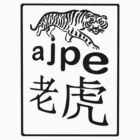 ajpe Tiger Chinese Chop Black by Keith Richardson
