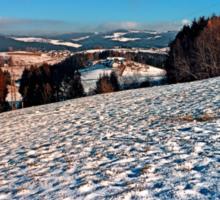 Hiking through winter wonderland II | landscape photography Sticker