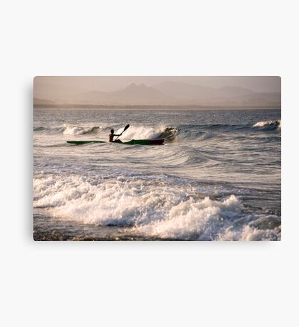 Paddling Out Canvas Print