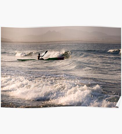 Paddling Out Poster
