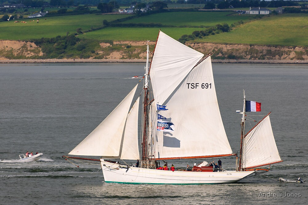 Mutin, yawl rigged tall ship, Waterford 2011 by Andrew Jones