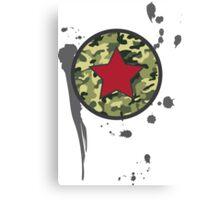 Military Stamp Canvas Print
