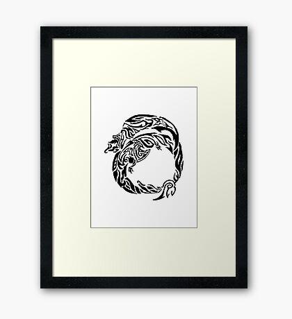Charizard Tribal Framed Print