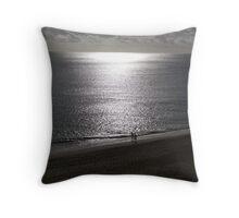 A Walk Along the Beach Throw Pillow
