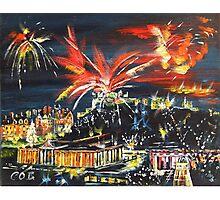 Edinburgh Fireworks Photographic Print