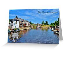 Cerdyn Penblwydd Aberhonddu Greeting Card