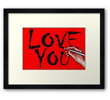 LOVE YOU 14 Framed Print