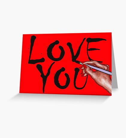 LOVE YOU 14 Greeting Card