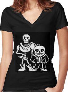 Undertale 9 Women's Fitted V-Neck T-Shirt