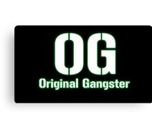 Original Gangster Text Canvas Print