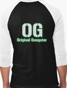 Original Gangster Text Men's Baseball ¾ T-Shirt