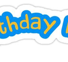 Happy Birthday Boy Comic Logo Sticker