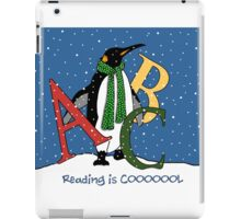 Reading Books is COOL, Penguin with Letters, ABC's, Snow iPad Case/Skin