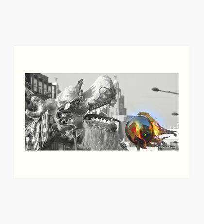 Chinese Dragon in Liverpool Art Print