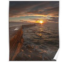 Burghead Harbour Poster