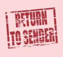 Return to sender red rubber stamp effect Kids Clothes