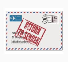 Return to sender red rubber stamp effect One Piece - Long Sleeve