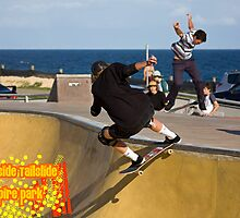 Frontside Tailslide by reflector