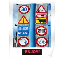 ROAD SIGN 30 Poster