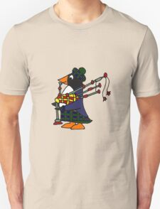 Cool Funny Penguin Playing Bagpipes Unisex T-Shirt