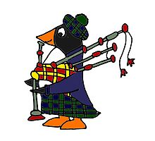 Cool Funny Penguin Playing Bagpipes by naturesfancy