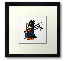 Cool Funny Penguin Playing Bagpipes Framed Print