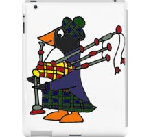 Cool Funny Penguin Playing Bagpipes iPad Case/Skin