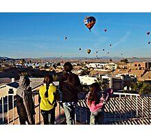 Kids & Balloons Photographic Print