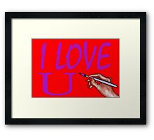 I LOVE YOU 3 Framed Print