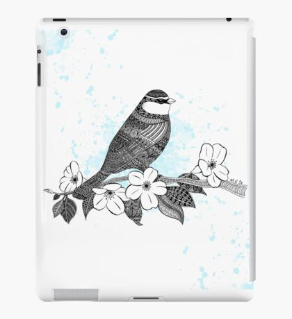 Bird on cherry blossoms iPad Case/Skin