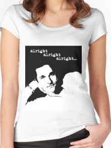 Alright Alright Alright B/W Women's Fitted Scoop T-Shirt