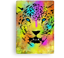 POP Tiger - Colorful Paint Splatters and Drips - Stained Canvas Art Prints Canvas Print