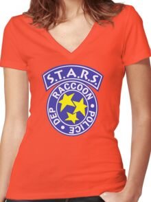 S.T.A.R.S. v2 Women's Fitted V-Neck T-Shirt