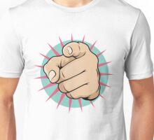 Vintage Pop Art Pointing Hand Sign Unisex T-Shirt