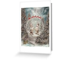 Welshies in a snow globe Greeting Card
