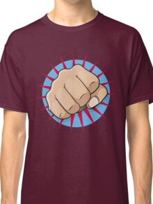 Vintage Pop Art Punching Fist Sign Classic T-Shirt
