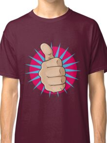 Vintage Pop Art Thumbs Up Sign. Classic T-Shirt