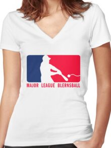 Major League Blernsball (MLB / Futurama parody) Women's Fitted V-Neck T-Shirt