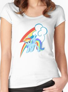 MLP rainbow dash Women's Fitted Scoop T-Shirt