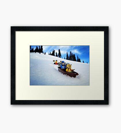 Pirates like sledding Framed Print