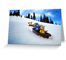 Pirates like sledding Greeting Card