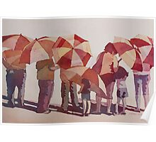 Sun-Drenched Parasols Poster
